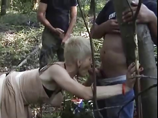 french excited granny gangbanged outdoors