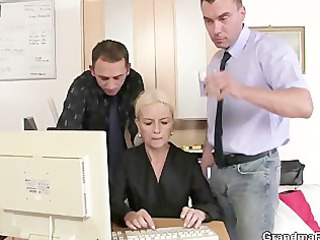 she is swallows cocks for work