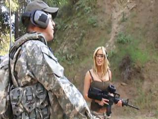 hawt mature bitch gives this soldier trio hot