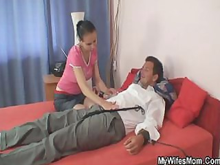 jealous wife turns really eager when she is spots