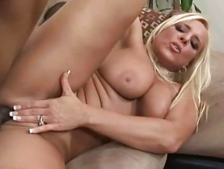 older golden-haired having interracial sex