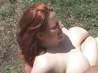 corpulent redhead
