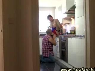 euro hottie in nylons receives her puusy eaten in