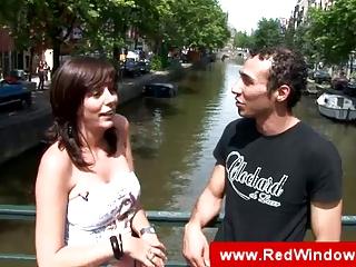 real amsterdam aged whore sucks tourist