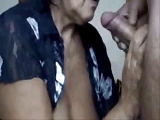 naughty mommy drinking cum