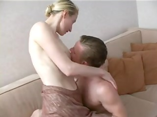 tall mature golden-haired seduces not her son