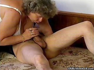 sexually excited grandma loves engulfing