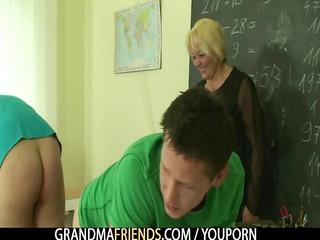 old teacher takes tocks
