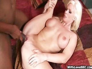 blond milf screwed and jizzed by black fellow
