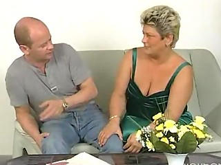 obese mature housewife squirms