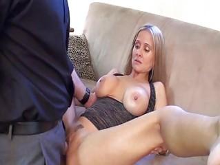 sluty blonde milf with massive breast in dark