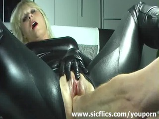 golden-haired wife violently fisted in her loose