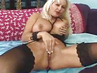 older babe in dark stockings acquires a hardcore