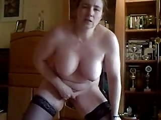home made. perverted wife masturbates standing