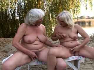 bewitching lesbo grannies fervent love tunnel
