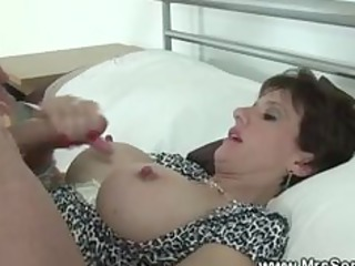 cuckolds wife gobbles cock