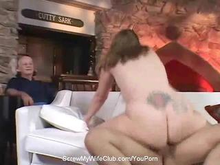 corpulent swinger wife screws stranger