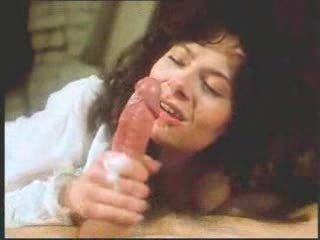 vintage retro aged woman oral job with big spunk