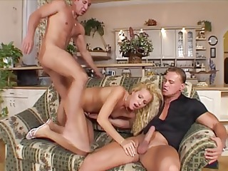 cute blond involved in some with 2 guys