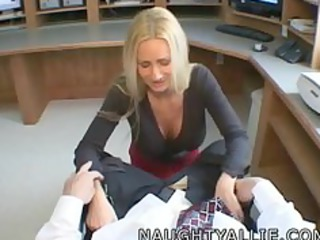 allie visits jakes office for a quickie wife