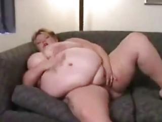 bulky abode wife masturbates alone