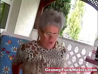 young man fucking old corpulent granny