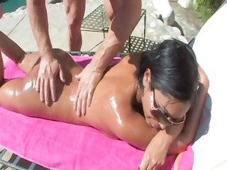 curvaceous indian milf priya rai gets oiled up