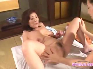 5 older oriental women licking and fingering