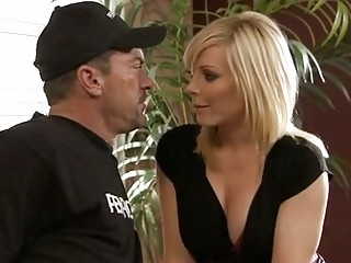 horny holly sampson works her hot milf mouth on