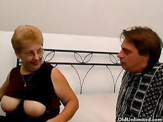 corpulent old mamma with large tits can engulfing