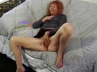 aged redhead trudy true masturbates previous to