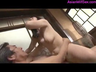 milf getting her hairy pussy drilled by her old