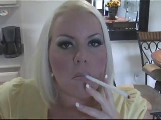 sexy breasty blonde milf smokin solo