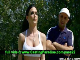 jessica jaymes breasty dark brown teasing guy