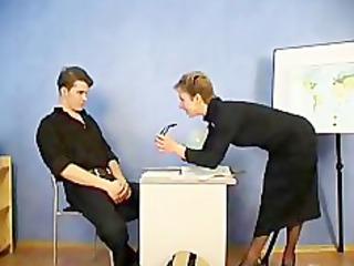 russian mature teacher and her student russian