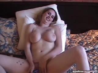 wifey breasty large naturals homemade masturbation