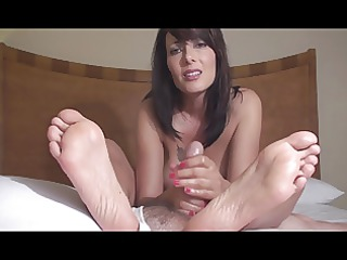aged zoey- feet full of cum
