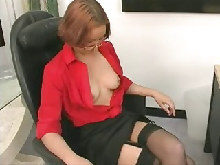 office skank receives nude and continues to