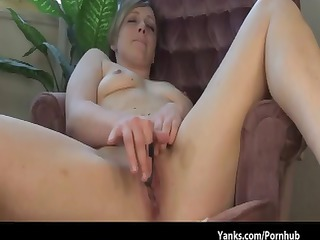 dark brown receives nude in the chair to rub out