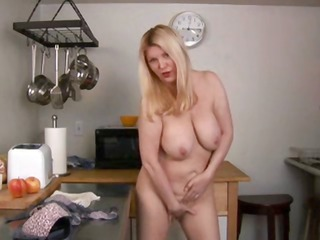 mature blond whips up smth different in the