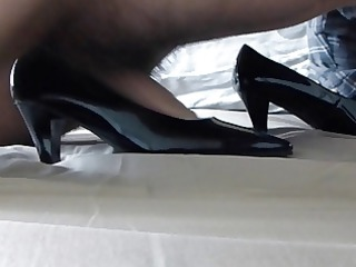 cum in wifes darksome patent classic court shoe