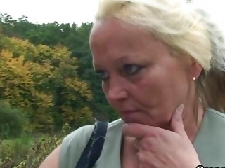 granny slut is picked up and drilled