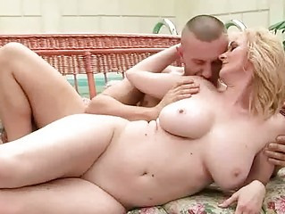 breasty grandma getting her a-hole rammed