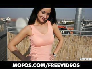 brunette hair milf receive picked up at the