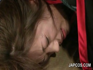 mature asian wench in ropes slit fucked with a