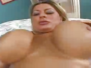 summer sinn - plays with her big fake tits and