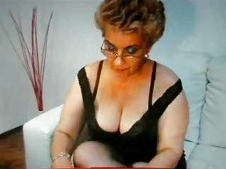granny smokes very hot
