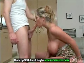 lewd large tits mother i works prick like expert