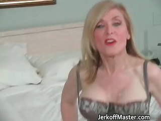 sexy blonde mother i is stripping part1