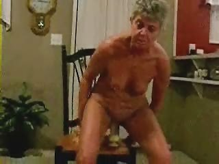 horny granny riding a big toy